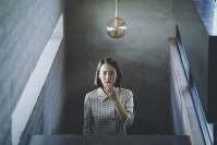 This image released by Neon shows Yeo-jeong Jo in a scene from 'Parasite.' (Neon via AP)