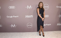 Jennifer Aniston arrives at Variety's Power of Women on Oct. 11, 2019, at the Beverly Wilshire hotel in Beverly Hills, Calif. (Photo by Jordan Strauss/Invision/AP)