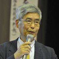 原発の危険性を語る樋口英明さん=与謝野町で、塩田敏夫撮影