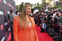 In this Aug. 26, 2019, file photo, Queen Latifah arrives at the MTV Video Music Awards at the Prudential Center in Newark, N.J. (Photo by Charles Sykes/Invision/AP)