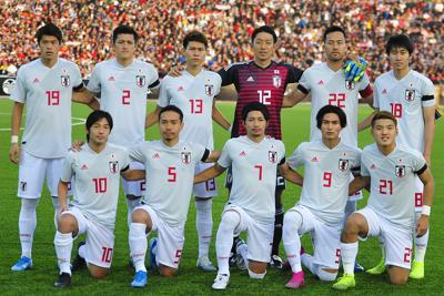 W杯アジア2次予選【日本-タジキスタン】タジキスタン戦に臨む、日本代表のスターティングメンバー=ドウシャンベで2019年10月15日、AP