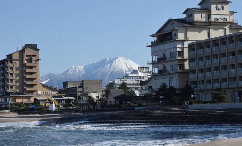 海沿いのまち=鳥取県米子市で