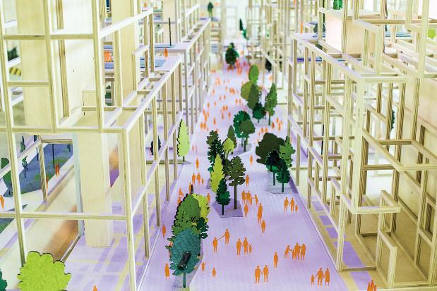 サイドウォーク・ラボのスマートシティーのイメージ(Bloomberg)