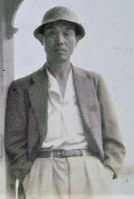 Kiyoshi Kanai is seen at age 40. (Photo courtesy of the Hiroshima Peace Memorial Museum)