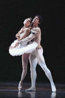 In this Jan. 14, 1990 file photo, ballet stars Alicia Alonso, 72, left, and Orlando Salgado perform