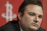 In this April 19, 2011, file photo, Houston Rockets General Manager Daryl Morey talks during a news conference, in Houston. (AP Photo/Pat Sullivan)