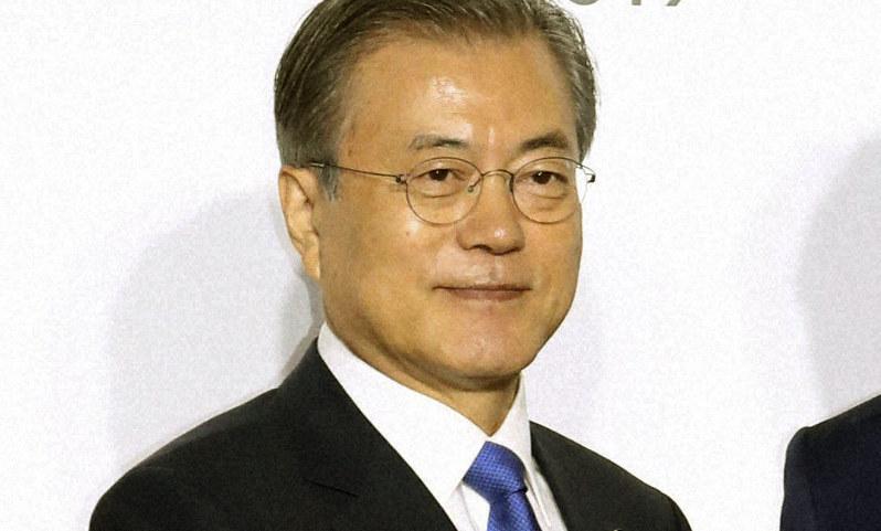韓国の文在寅大統領=大阪市で2019年6月28日、代表撮影