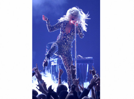 This Feb. 10, 2019 file photo shows Lady Gaga performing at the Grammy Awards in Los Angeles. (Photo by Matt Sayles/Invision/AP)