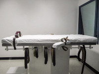This July 7, 2010 file photo, shows Nebraska's lethal injection chamber at the State Penitentiary in Lincoln, Neb. (AP Photo/Nate Jenkins)