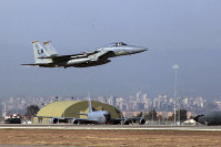 In this Dec. 15, 2015, file photo, a U. S. Air Force F-15 fighter jet takes off from Incirlik Air Base near Adana, Turkey. (AP Photo)
