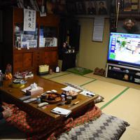松本キミさんの夫勇一さんは足腰が弱く、台風後からは家に籠もることが多くなった。一時避難はしないつもりだ=福島県矢祭町高地原地区で2019年10月19日午前11時31分、古川幸奈撮影