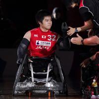 【日本-英国】次世代のエースとして期待される橋本勝也(左)=東京体育館で2019年10月20日、佐々木順一撮影