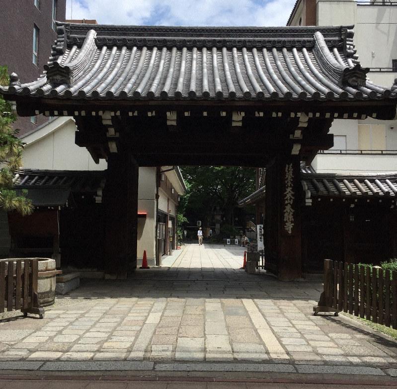 本能寺。1582年の本能寺の変で焼失し、その後、現在地に移された=京都市中京区で2019年7月16日、銅崎順子撮影
