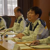 台風15号被害に対応するため開かれた県の災害対策本部会議=千葉県庁で、9月23日