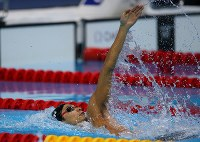 2012 London Olympics -- Japan's Ryosuke Irie swims in the final in the men's 200-meter backstroke. (Mainichi/Tsuyoshi Morita)