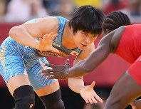 2012 London Olympics -- Japan's Hitomi Obara competes on her way to winning the gold medal in the 48-kilogram division in women's wrestling. After the competition she commented,