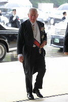 Prince Charles, the prince of Wales, enters the Imperial Palace in Tokyo's Chiyoda Ward on Oct. 22, 2019, prior to the proclamation of Emperor Naruhito's enthronement. (Mainichi/Koichiro Tezuka)