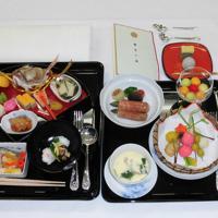 22日の饗宴の儀で賓客らに提供された料理(宮内庁提供)