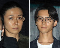 Rena Komine, left, and Junnosuke Taguchi. (Mainichi)