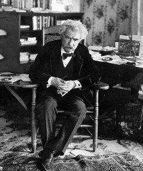 This undated photo shows Mark Twain, whose adventures overseas, and the irreverent book which helped make him famous, will be featured in an upcoming exhibit at the New-York Historical Society. (AP Photo)