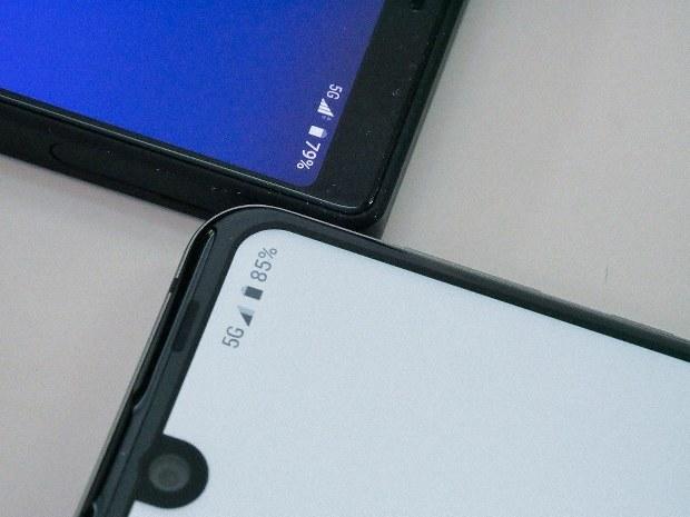 5Gで接続したスマートフォン=小山安博氏撮影