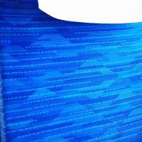 東海道新幹線「N700S」確認試験車の普通車座席のカバーには富士山のような模様が描かれていた=東海道新幹線で2019年10月30日午前10時57分、内林克行撮影