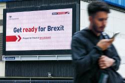 英国民はブレグジットにへきえきしている(ロンドン市内)(Bloomberg)