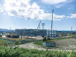 HISスーパー電力が建設中のパーム油発電所(FoE Japan提供)