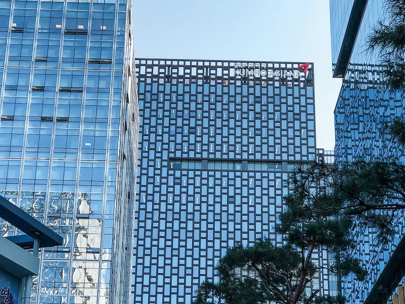 譲渡先が注目されるソウル市のアシアナグループ本社(筆者撮影)