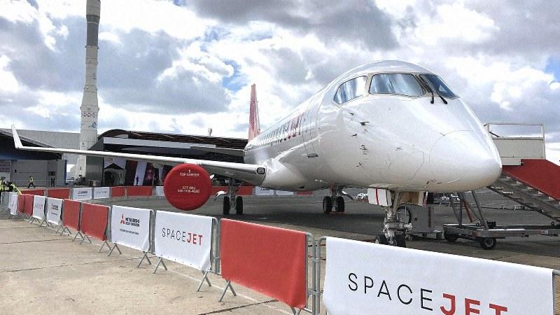 今年のパリ航空ショーに参加したスペースジェット=三菱航空機提供