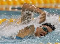 2004 Athens Paralympics -- Japan's Mayumi Narita won a total of seven gold medals in women's swimming at the Athens Games. (Mainichi/Kimitaka Takeichi)
