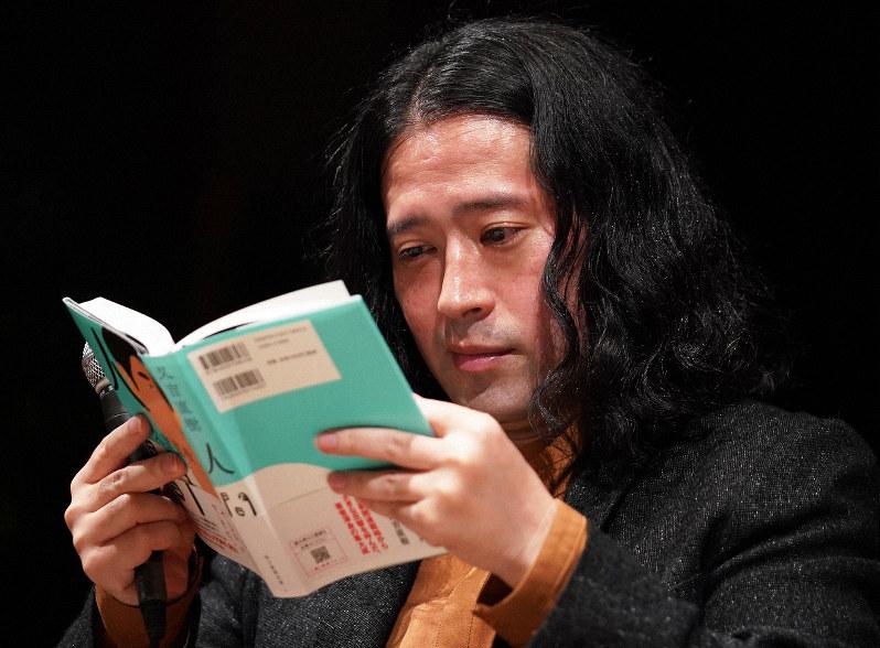 小説「人間」の刊行を記念したトークイベントに臨む又吉直樹さん=東京都渋谷区の紀伊国屋サザンシアターで2019年10月20日、手塚耕一郎撮影