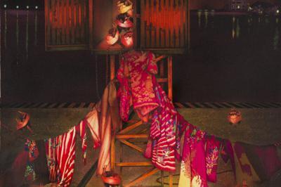 齋藤芽生《密愛村Ⅲ「密輸される乙女たち」》2011年、60センチ×60センチ、個人蔵Photo (C)Ken Kato  Courtesy of gallery Art Unlimited