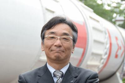 国中均・JAXA宇宙科学研究所長=相模原市中央区の同研究所で2018年3月25日、池田知広撮影