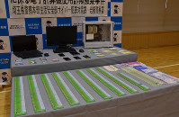 A massive number of T-Point cards and other items are seen at Iwatsuki Police Station in the city of Saitama, Saitama Prefecture, north of Tokyo, on Oct. 24, 2019. (Mainichi/Ayako Hiramoto)