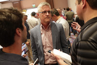 Houston Astros general manager Jeff Luhnow speaks during a media availability during the Major League Baseball general managers annual meetings on Nov. 12, 2019, in Scottsdale, Ariz. (AP Photo/Matt York)