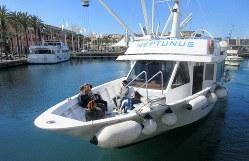 ジェノバ港に浮かぶクルーザー(写真は筆者撮影)