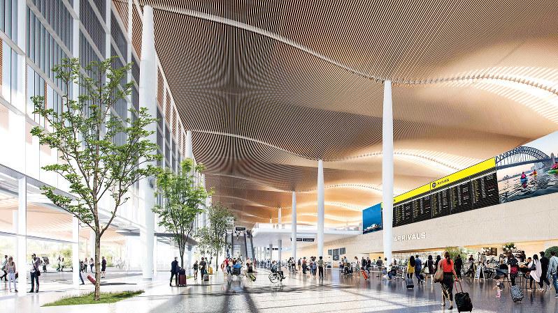 公開された新空港・西シドニー空港のデザイン(西シドニー空港公社提供)