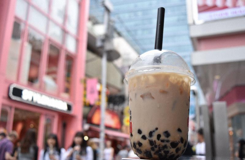 第3次ブームを迎えているタピオカ=東京都渋谷区で、2019年7月9日、待鳥航志撮影