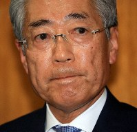 Then Japanese Olympic Committee President Tsunekazu Takeda is seen in this March 19, 2019 file photo, after he announced his intention to resign at a committee meeting in Tokyo's Shibuya Ward. (Mainichi/Naotsune Umemura)
