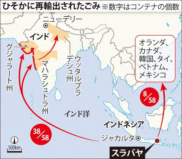インドネシアへの「違法越境ごみ」タイやインドなどへ再輸出か NGO調査 ...