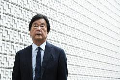 田中均氏=東京都港区で2019年7月10日、根岸基弘撮影