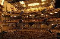 This Oct. 29, 2019 photo shows the interior of the 961-seat Hudson Theatre on West 44th Street in New York. (AP Photo/Mark Kennedy)
