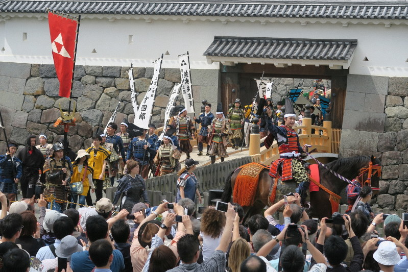 北條五代祭り=小田原城址公園で2018年5月3日、澤晴夫撮影