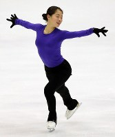 Japan's Yuhana Yokoi is seen performing during a practice session ahead of the ISU Grand Prix of Figure Skating NHK Trophy, on Nov. 21, 2019, at Makomanai Sekisuiheim Ice Arena in Sapporo. (Mainichi/Taichi Kaizuka)
