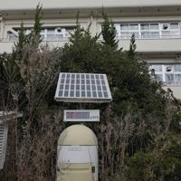 帰還困難区域内にある双葉北小学校=福島県双葉町で2019年11月22日午前10時51分、和田大典撮影