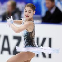 【NHK杯フィギュア】女子SPで演技するロシアのアリョーナ・コストルナヤ=真駒内セキスイハイムアイスアリーナで2019年11月22日、貝塚太一撮影