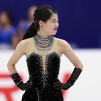 【NHK杯フィギュア】女子SPで演技を終えた横井ゆは菜の表情=真駒内セキスイハイムアイスアリーナで2019年11月22日、貝塚太一撮影