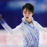 【NHK杯フィギュア】男子SPで演技する羽生結弦=真駒内セキスイハイムアイスアリーナで2019年11月22日午後8時27分、貝塚太一撮影