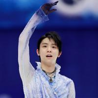 【NHK杯フィギュア】男子SPを終え、観客の声援に応える羽生結弦=真駒内セキスイハイムアイスアリーナで2019年11月22日、貝塚太一撮影